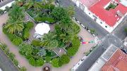 Vista aérea del jardín de Comala | Foto: El Noticiero de Colima