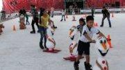 Pista de hielo en Manzanillo | Foto: Especial