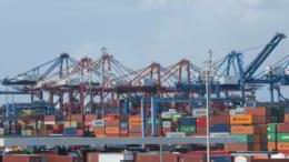Puerto de Manzanillo, grúas de SSA México   Foto: El Noticiero de Manzanillo