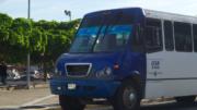 Camión urbano en el centro de Manzanillo | Foto: El Noticiero de Manzanillo