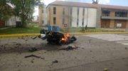Así quedó el coche-bomba en Bogotá, Colombia | Foto: Especial