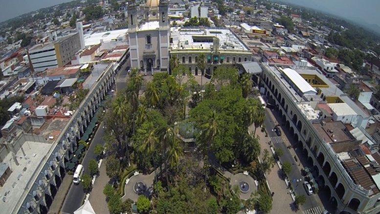 Vista aérea del centro de Colima   Foto: Especial