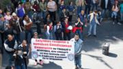Protesta de trabajadores de la Semarnat | Foto: Especial