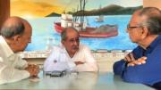 El coordinador de Puertos y Marina Mercante, Ing. Héctor López, en entrevista con el periodista Carlos Valdez Ramírez   Foto: El Noticiero de Manzanillo