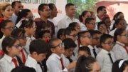 Niños estrenando lentes graduados   Foto: El Noticiero de Manzanillo