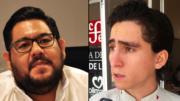 Joel Nino Jr, presidente de la FEC y Vladimir Parra Barragán, coordinador de Morena en el Congreso local | Foto: El Noticiero de Colima