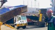 Incidente en Corporación Multimodal, en el puerto de Manzanillo | Foto: Especial