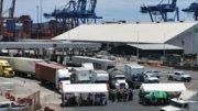 Bloqueo campesino en el puerto de Manzanillo  Foto: Especial