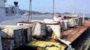 Así lucieron algunos de los contenedores que fueron recuperados del mar   Foto: Especial