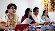 Claudia Yáñez, Claudia Aguirre, César Farías y Ana Landa | Foto: Especial