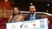 Juan Pablo Valdivia y Karina Gutiérrez, los ganadores. | Foto: Especial