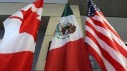 Banderas de Cánada, México y Estados Unidos | Foto: especial