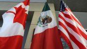 Banderas de Cánada, México y Estados Unidos   Foto: especial.