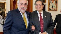 Enrique Graue, rector de la UNAM, Y Eduardo Hernández, rector de la UdeC | Foto: Especial