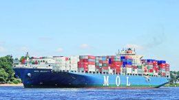 """El buque """"Mol Majesty"""" arribó a Ensenada desde Manzanillo   Foto: Especial"""