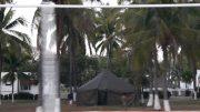 En las instalaciones de la Armada en Las Brisas instalaron un campamento para resguardar a los 21 elementos que convivieron en la Ciudad de México con un positivo de coronavirus   Foto: Especial