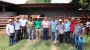 La entrega de sementales se llevó a cabo en el rancho La Guadalupe, ubicado en Comala, donde es criado este tipo de ganado | Foto: Especial