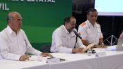 José Ignacio Peralta, gobernador del estado de Colima emitiendo un comunicado de prevención contra el COVID-19 | Foto: especial