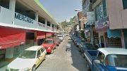 Calle Francisco Madero, frente al mercado de comida Los Agachados, donde ocurrió el feminicidio/ Foto: Especial
