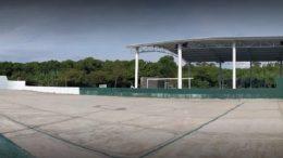Cancha de Unidad Deportiva Valle de las Garzas en Manzanillo | Foto: Especial