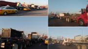 Desde la madrugada de este jueves 30 de abril, largas filas de tráileres saturan la carretera Jalipa-Puerto. | Foto: Especial