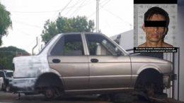 Se trata de un auto de la marca Nissan, línea Tsuru, modelo 2005, con placas del estado; el cual contaba con reporte de robo vigente; hubo un detenido.