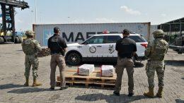 La droga venía procedente de Panamá en el buque Svendborg Maersk; detuvieron a dos personas. |Foto: Jesús Lozoya.