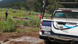 El reporte de las autoridades municipales detalla que el hallazgo ocurrió al mediodía de este miércoles, en la región cañera de Presidio, cercano al ingenio Motzorongo