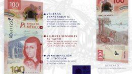 El nuevo billete de 100 pesos, donde el color predominante es rojo, entra en circulación a partir de este jueves 12 de noviembre.