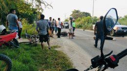 Los hechos ocurrieron la mañana del domingo cuando transitaba por la carretera Chandiablo-Manzanillo, a la altura del Cereso.