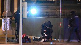 La policía informó que los disparos comenzaron a las 20:00 horas en Seitenstettengasse y cinco locaciones más.