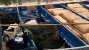 Eran transportadas por dos hombres en una embarcación con motores fuera de borda en territorio del Cártel del Pacífico, cuando navegaban a 12 Millas Náuticas al Sur de la costa de Sinaloa.