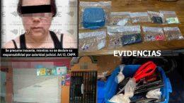 Le aseguraron en la colonia Del Valle varias bolsas plásticas transparentes, con sustancia con las características del Ice y otras más con al parecer cocaína.