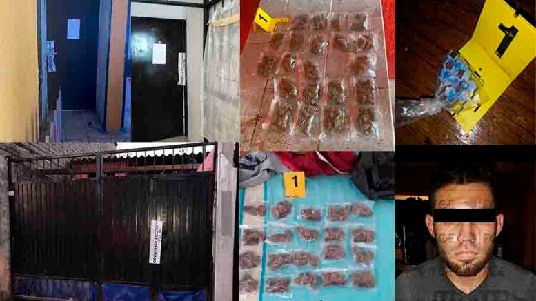 Los narcóticos e inmuebles quedaron asegurados por la autoridad ministerial, mientras que el detenido fue puesto a disposición de la autoridad competente.