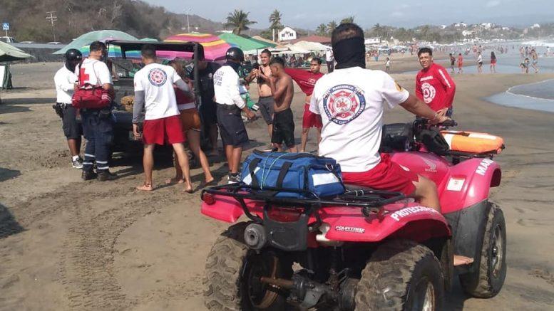 """La visitante de Guadalajara, se encontraba con sus familiares en la playa Miramar, a la altura de """"Las palmitas"""", e ingresó a las aguas del mar y una corriente de retorno la jaló mar adentro."""