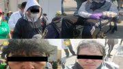 Uno de ellos acudió en silla de ruedas, se pintaron canas en el cabello y cejas para lucir mayores, exhibieron documentos de familiares; tienen 35 y 39 años; ahora están presos.