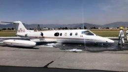 En la aeronave procedente de Cancún, Quintana Roo, viajaban siete pasajeros y dos tripulantes.