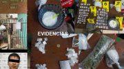 Al realizarle un cateo en Manzanillo, le incautaron varios cartuchos metálicos, bascula gramera y diversas bolsas plásticas con metanfetamina.