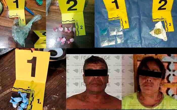 Se realizaron cateos en tres inmuebles de los municipios de Cuauhtémoc y Tecomán; la Fiscalía aseguró droga y viviendas.