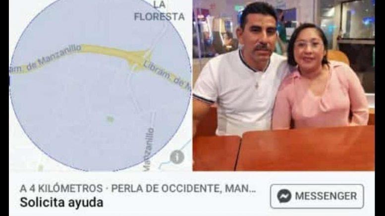 """Se accidentaron el lunes, el jueves la mujer hizo una última llamada a un familiar para darle su ubicación; estaban bajo el puente """"El Edén"""" en Manzanillo."""