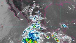 Se incrementa la probabilidad de lluvias puntuales muy fuertes en Guanajuato y Michoacán, y fuertes en Colima y Jalisco, las cuales serán con descargas eléctricas y posible granizo.